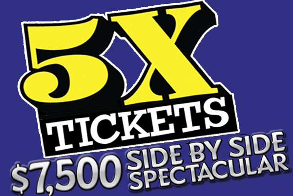 SIDE BY SIDE SPECTACULAR 5X Tickets! – Gold Ranch Casino Dayton
